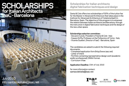 iaac scholarship poster