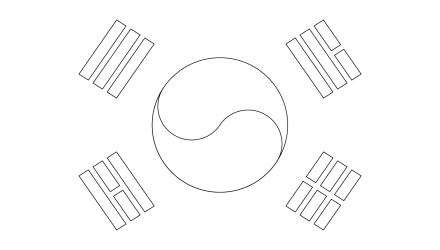 south-korea-flag-outline